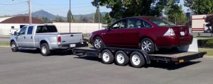 Truck and Trailer at Southern Oregon Rentals